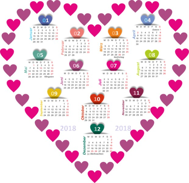 2018-printable-calendars-102 87+ Fascinating Printable Calendar Templates