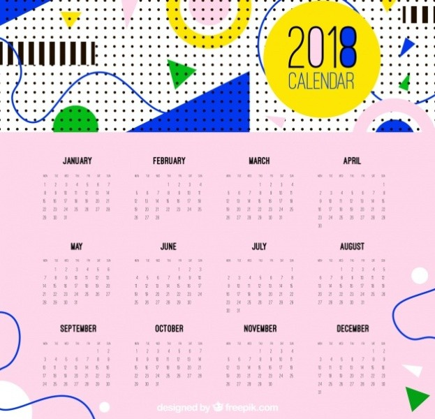 2018-printable-calendars-103 87+ Fascinating Printable Calendar Templates