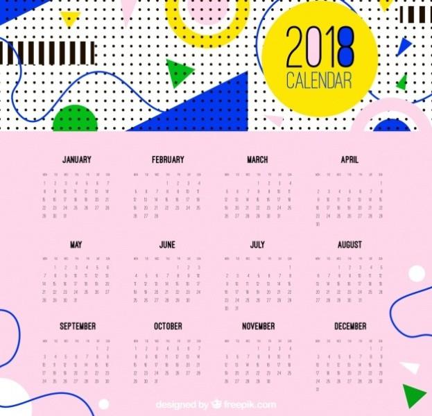 2018-printable-calendars-103 87+ Fascinating Printable Calendar Templates