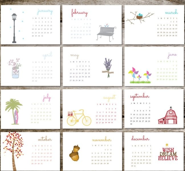 2018-printable-calendars-106 87+ Fascinating Printable Calendar Templates