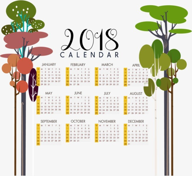 2018-printable-calendars-107 87+ Fascinating Printable Calendar Templates