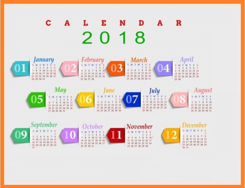 2018-printable-calendars-110 87+ Fascinating Printable Calendar Templates