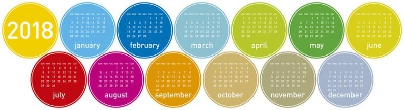 2018-printable-calendars-112 87+ Fascinating Printable Calendar Templates