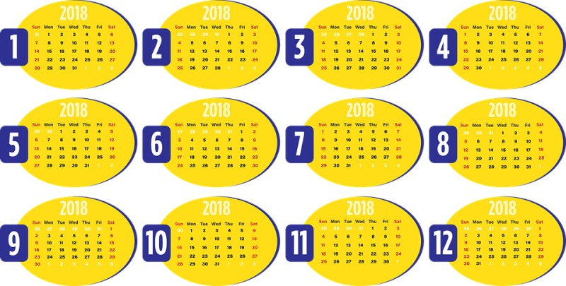 2018-printable-calendars-113 87+ Fascinating Printable Calendar Templates