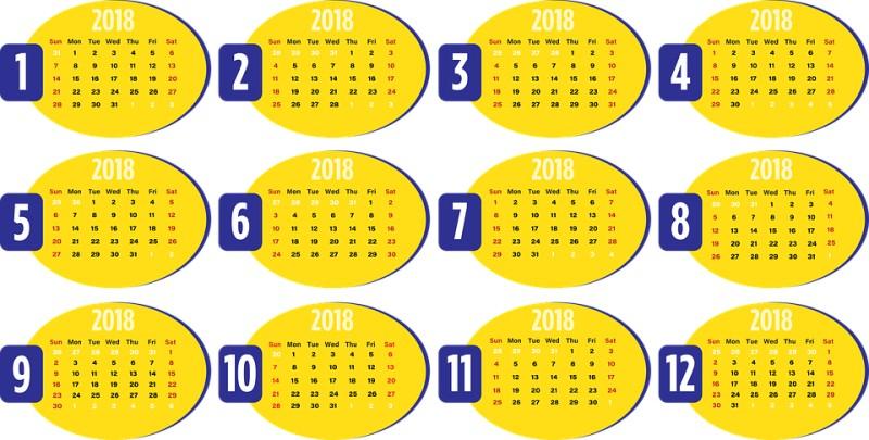 2018-printable-calendars-113 87+ Fascinating 2018 Printable Calendar Templates