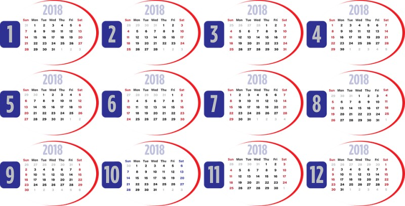 2018-printable-calendars-114 87+ Fascinating Printable Calendar Templates
