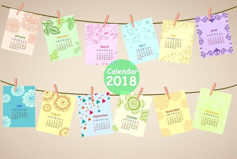2018-printable-calendars-116 87+ Fascinating Printable Calendar Templates