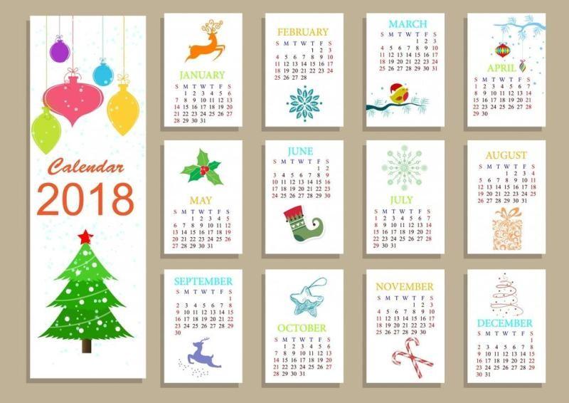 2018-printable-calendars-118 87+ Fascinating 2018 Printable Calendar Templates