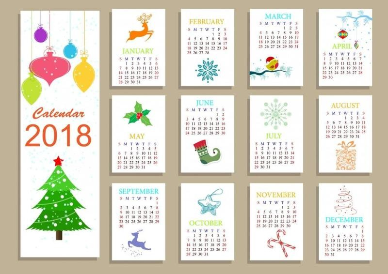 2018-printable-calendars-118 87+ Fascinating Printable Calendar Templates