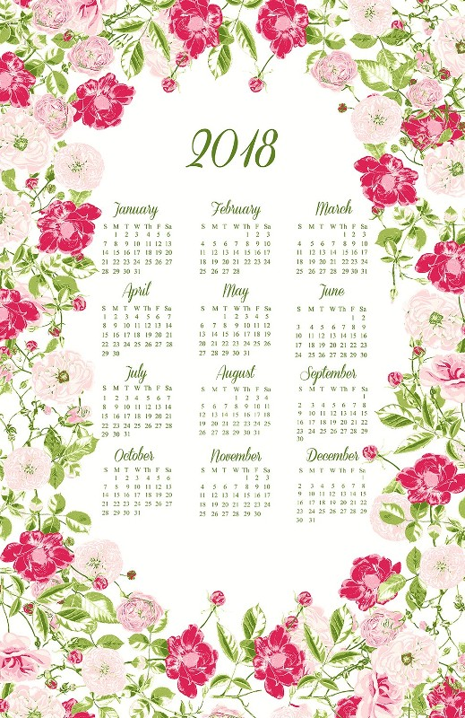 2018-printable-calendars-19 87+ Fascinating Printable Calendar Templates