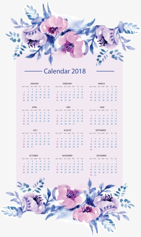 2018-printable-calendars-2 87+ Fascinating Printable Calendar Templates