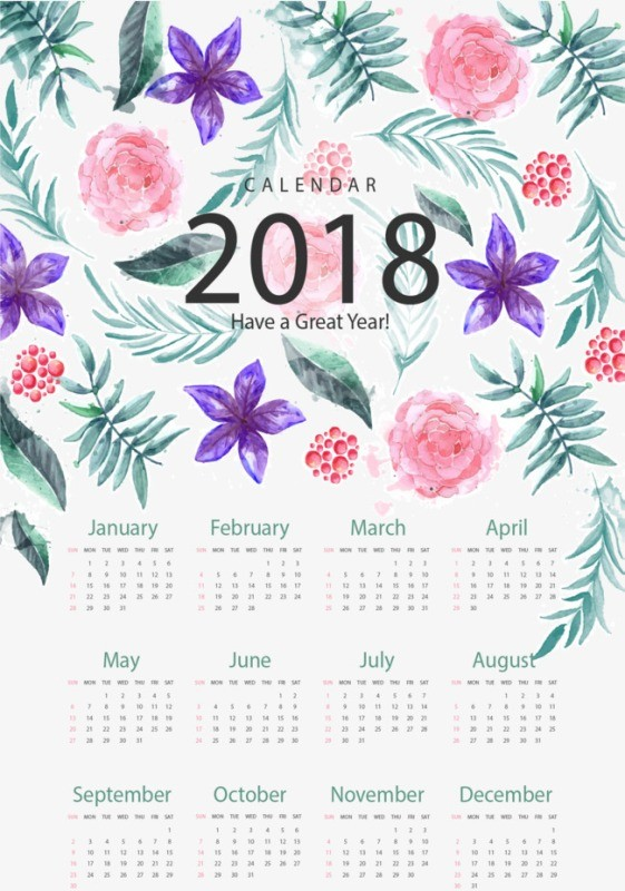 2018-printable-calendars-28 87+ Fascinating Printable Calendar Templates