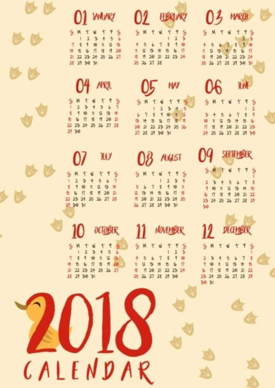 2018-printable-calendars-30 87+ Fascinating Printable Calendar Templates
