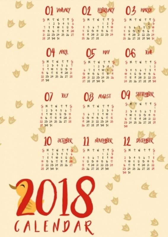 2018-printable-calendars-30 87+ Fascinating 2018 Printable Calendar Templates