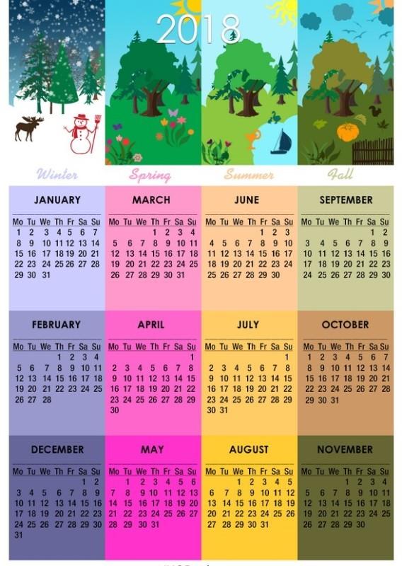 2018-printable-calendars-31 87+ Fascinating 2018 Printable Calendar Templates