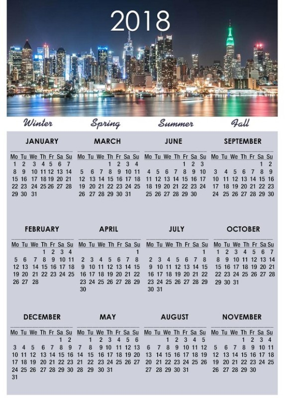 2018-printable-calendars-32 87+ Fascinating Printable Calendar Templates