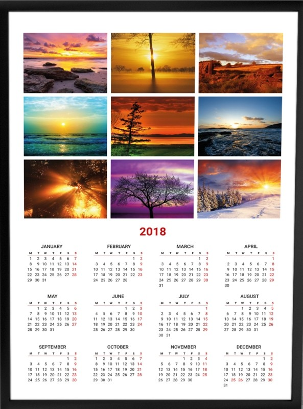 2018-printable-calendars-33 87+ Fascinating Printable Calendar Templates