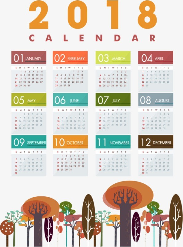 2018-printable-calendars-34 87+ Fascinating Printable Calendar Templates