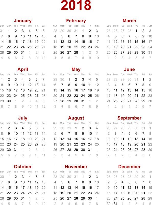 2018-printable-calendars-35 87+ Fascinating 2018 Printable Calendar Templates