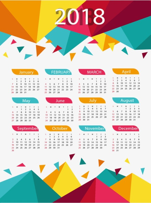 2018-printable-calendars-36 87+ Fascinating Printable Calendar Templates