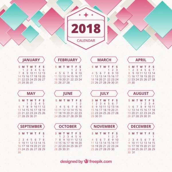 2018-printable-calendars-37 87+ Fascinating Printable Calendar Templates