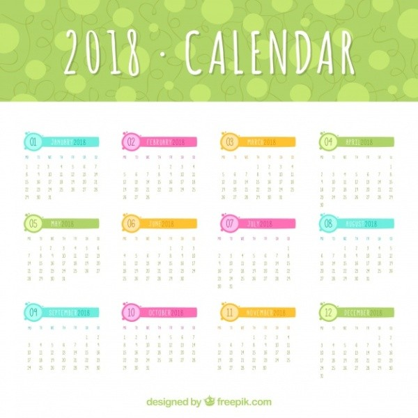 2018-printable-calendars-38 87+ Fascinating Printable Calendar Templates