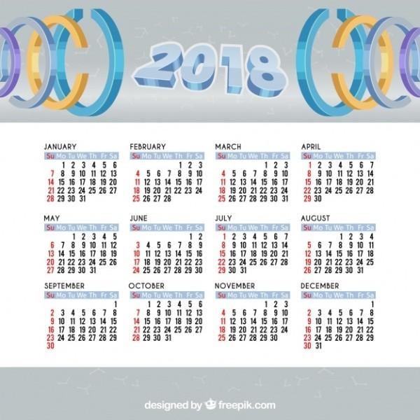 2018-printable-calendars-40 87+ Fascinating Printable Calendar Templates