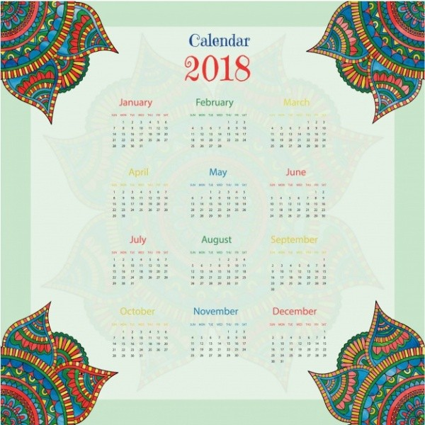 2018-printable-calendars-44 87+ Fascinating Printable Calendar Templates