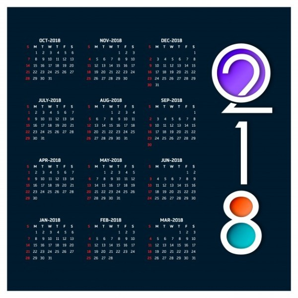 2018-printable-calendars-45 87+ Fascinating Printable Calendar Templates