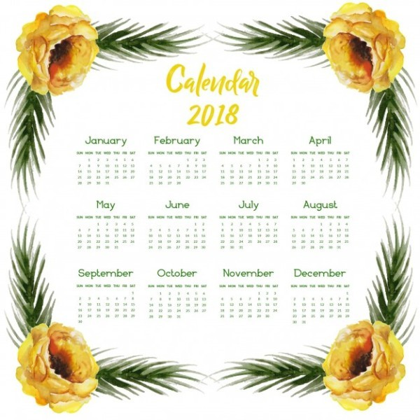 2018-printable-calendars-47 87+ Fascinating Printable Calendar Templates