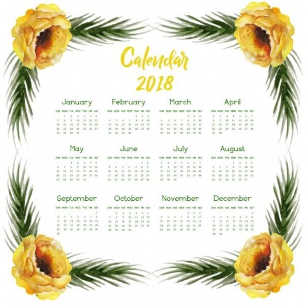 2018-printable-calendars-47 87+ Fascinating Printable Calendar Templates
