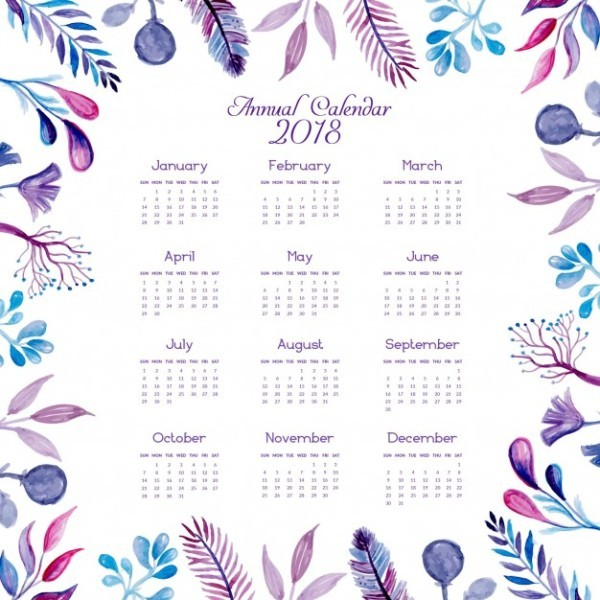 2018-printable-calendars-49 87+ Fascinating 2018 Printable Calendar Templates