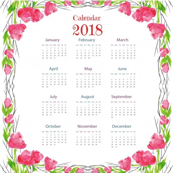 2018-printable-calendars-50 87+ Fascinating Printable Calendar Templates