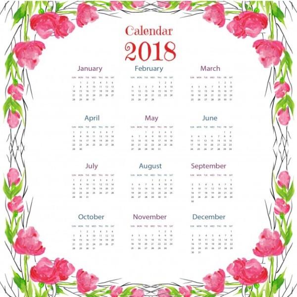 2018-printable-calendars-50 87+ Fascinating Printable Calendar Templates