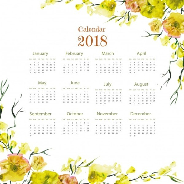 2018-printable-calendars-51 87+ Fascinating 2018 Printable Calendar Templates