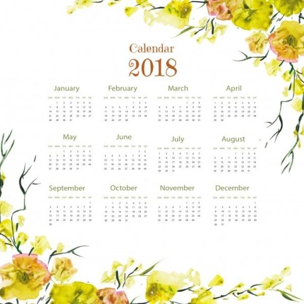 2018-printable-calendars-51 87+ Fascinating Printable Calendar Templates
