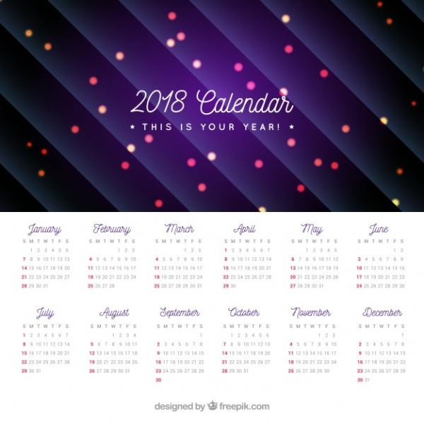 2018-printable-calendars-53 87+ Fascinating Printable Calendar Templates