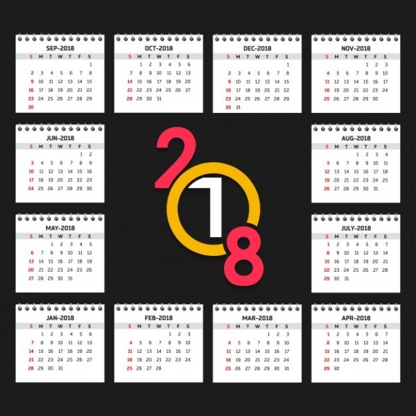 2018-printable-calendars-54 87+ Fascinating Printable Calendar Templates