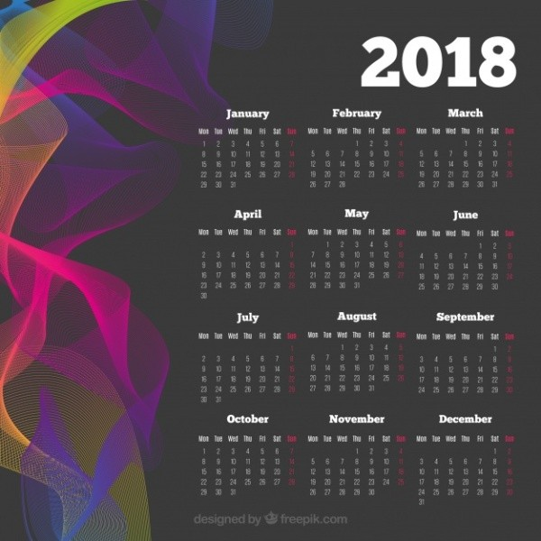 2018-printable-calendars-57 87+ Fascinating Printable Calendar Templates