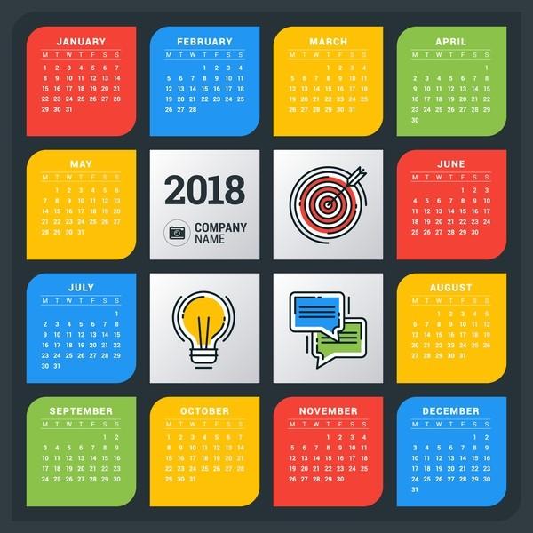 2018-printable-calendars-59 87+ Fascinating Printable Calendar Templates