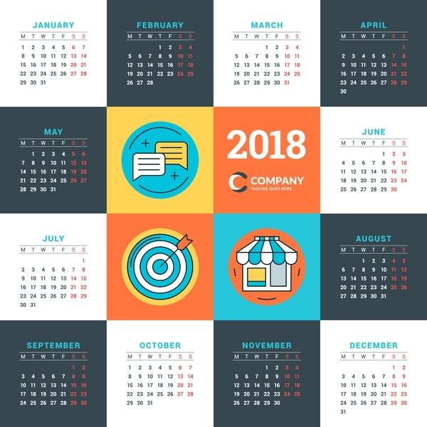 2018-printable-calendars-60 87+ Fascinating 2018 Printable Calendar Templates