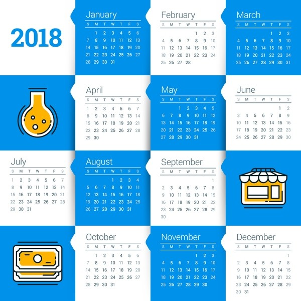 2018-printable-calendars-61 87+ Fascinating Printable Calendar Templates