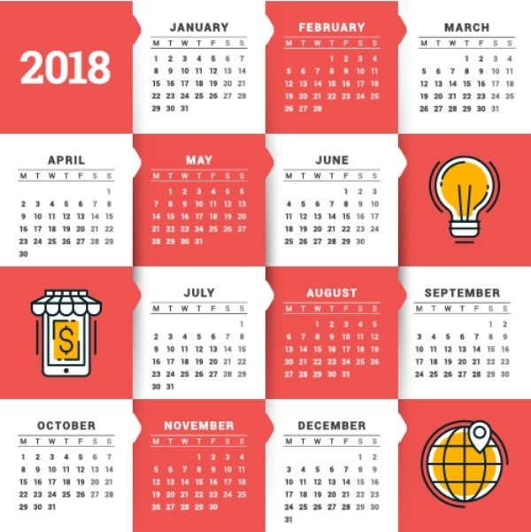 2018-printable-calendars-63 87+ Fascinating Printable Calendar Templates