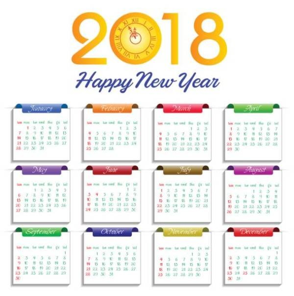 2018-printable-calendars-64 87+ Fascinating Printable Calendar Templates