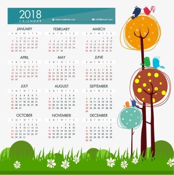 2018-printable-calendars-65 87+ Fascinating Printable Calendar Templates
