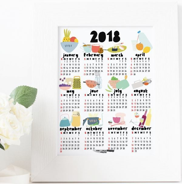 2018-printable-calendars-66 87+ Fascinating Printable Calendar Templates