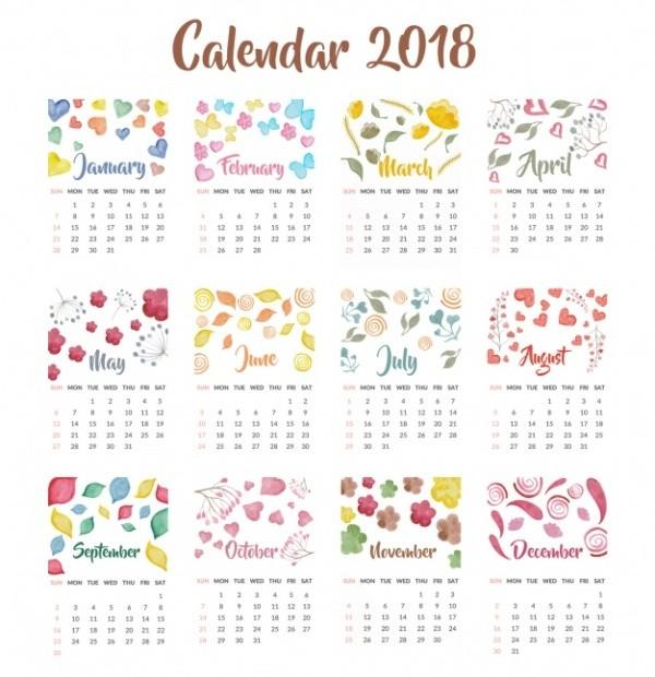 2018-printable-calendars-67 87+ Fascinating Printable Calendar Templates