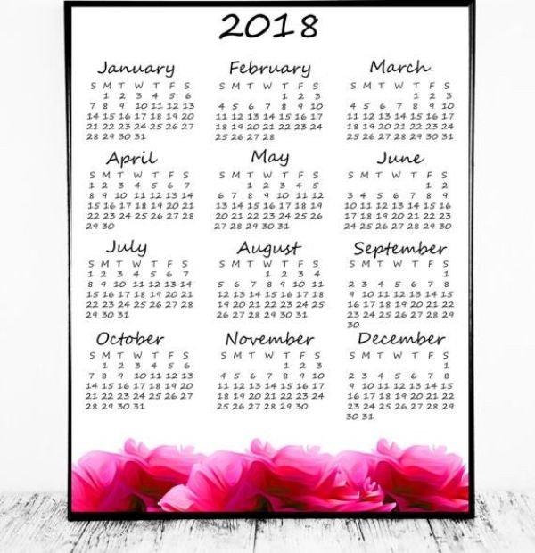 2018-printable-calendars-68 87+ Fascinating Printable Calendar Templates