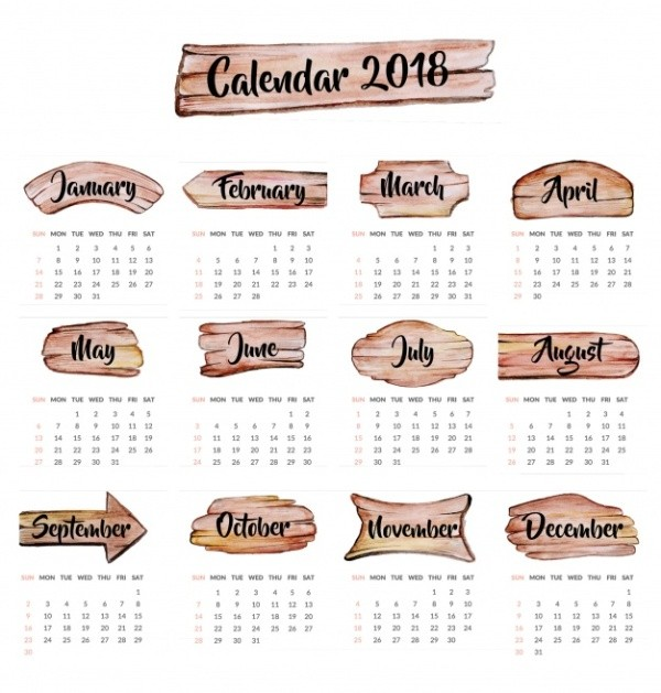 2018-printable-calendars-69 87+ Fascinating Printable Calendar Templates