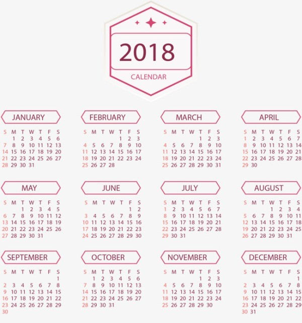 2018-printable-calendars-70 87+ Fascinating 2018 Printable Calendar Templates